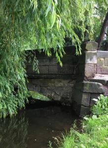 Mostík přes náhon, Chrudim.